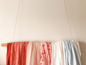 clothes hanging on hanger